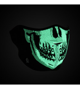 HALF FACE MASK GLOW-IN-THE-DARK SKULL ONE SIZE